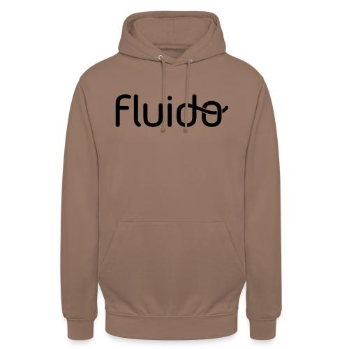 "fluidologo_musta - Huppari ""unisex"""