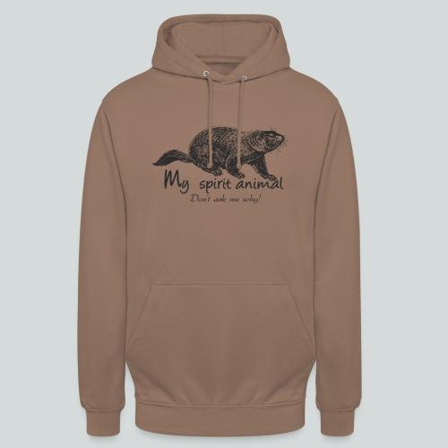 La marmotte est mon animal totem - Sweat-shirt à capuche unisexe