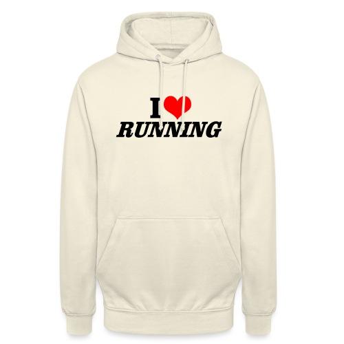 I love running - Unisex Hoodie