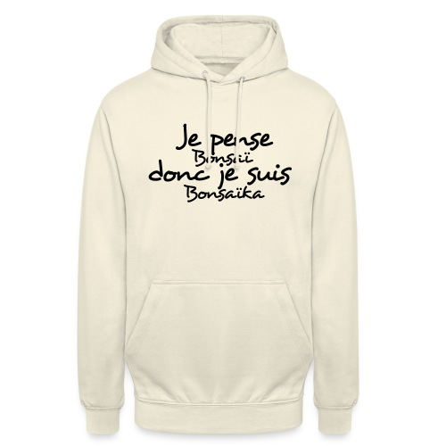 je_pense_donc_je_suis - Sweat-shirt à capuche unisexe
