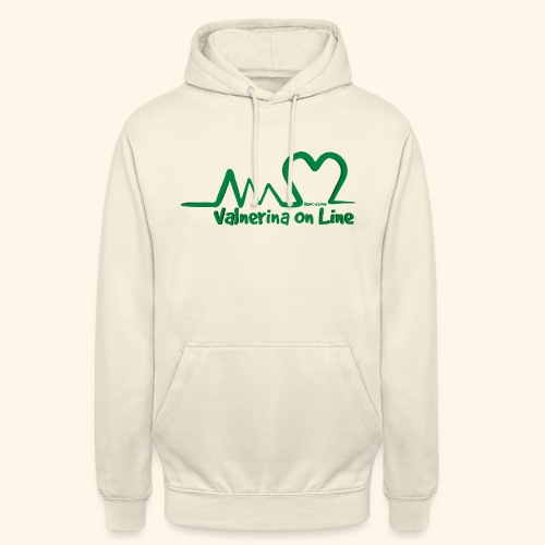 logo verde Associazione Valnerina On line - Felpa con cappuccio unisex