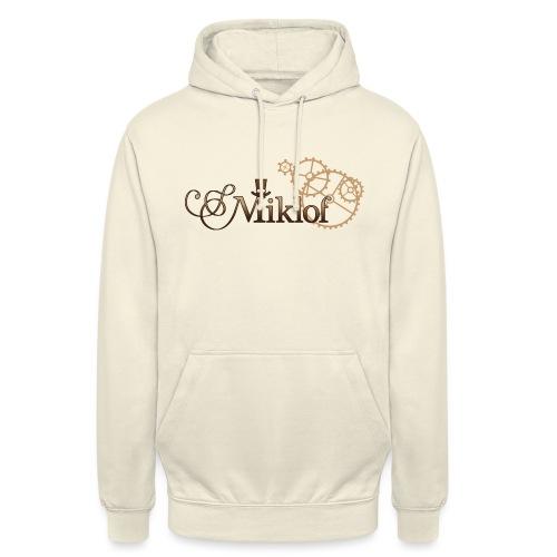 miklof logo gold wood gradient 3000px - Unisex Hoodie