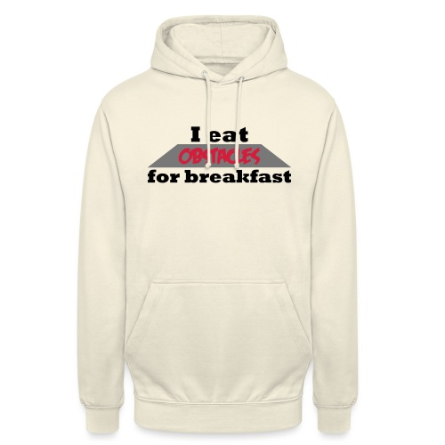 I eat obstacles - Unisex Hoodie