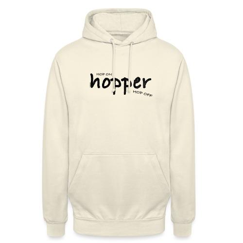 MuchoHop Hop On/Off (black) - Sudadera con capucha unisex