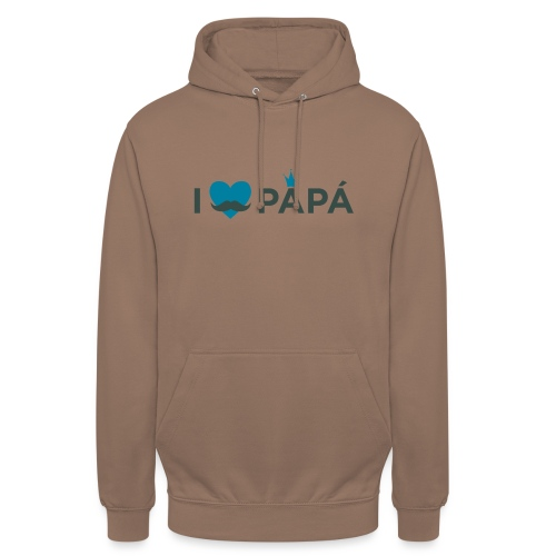 ik hoe van je papa - Sweat-shirt à capuche unisexe