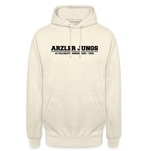 Arzler Jungs Schriftzug in Schwarz - Unisex Hoodie