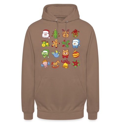 Traditional Christmas characters and symbols - Unisex Hoodie