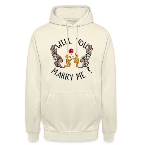 Will you marry me - Sweat-shirt à capuche unisexe