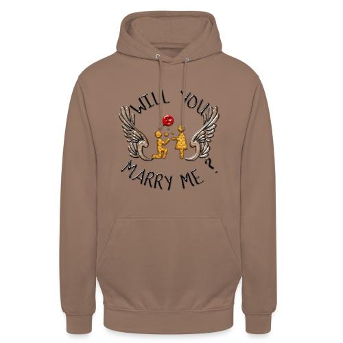 Will you marry me - Sweat-shirt à capuche unisexe