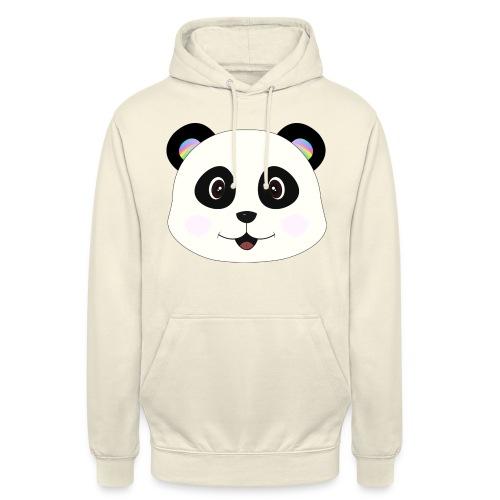 panda rainbow - Sudadera con capucha unisex