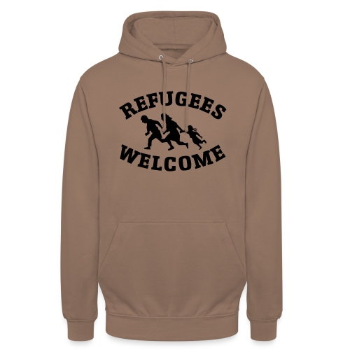 Refugees Welcome - Sweat-shirt à capuche unisexe