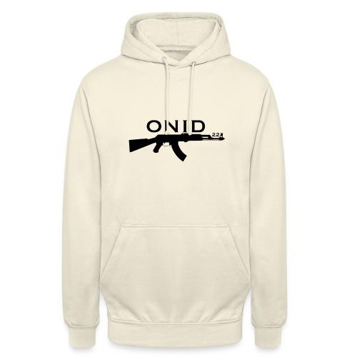 logo ONID-22 nero - Felpa con cappuccio unisex