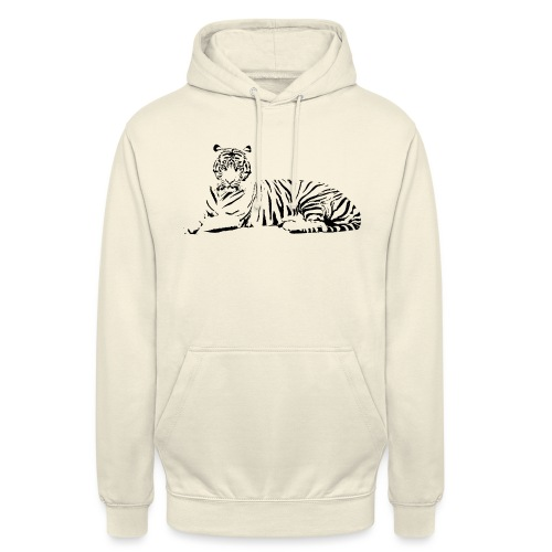 Weisser Tiger Shirt Geschenk - Unisex Hoodie