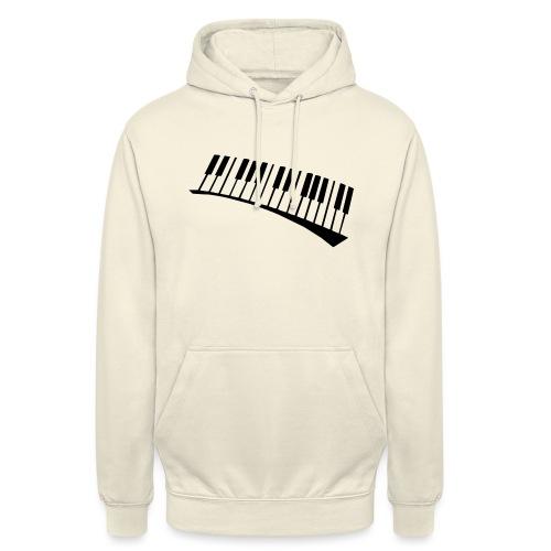 Piano - Sudadera con capucha unisex