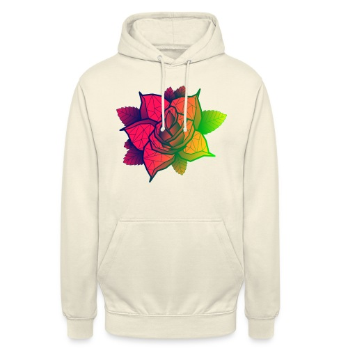 rose tricolore - Sweat-shirt à capuche unisexe