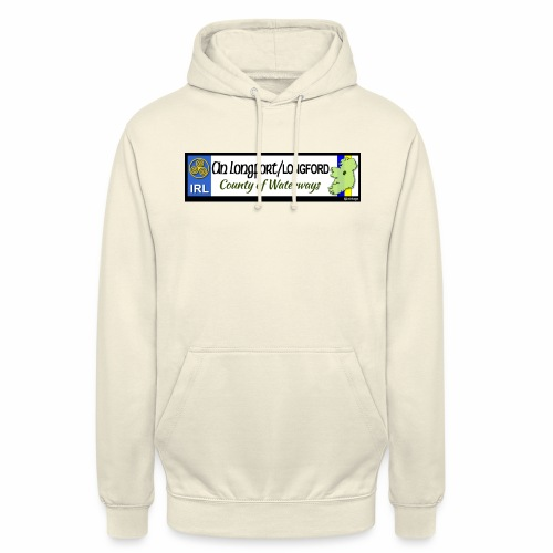 LONGFORD, IRELAND: licence plate tag style decal - Unisex Hoodie