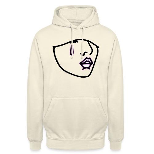 LOGO NOIR CONTOUR - Sweat-shirt à capuche unisexe