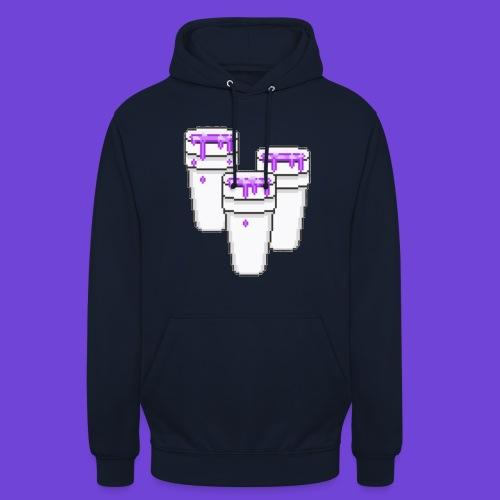 Purple - Felpa con cappuccio unisex