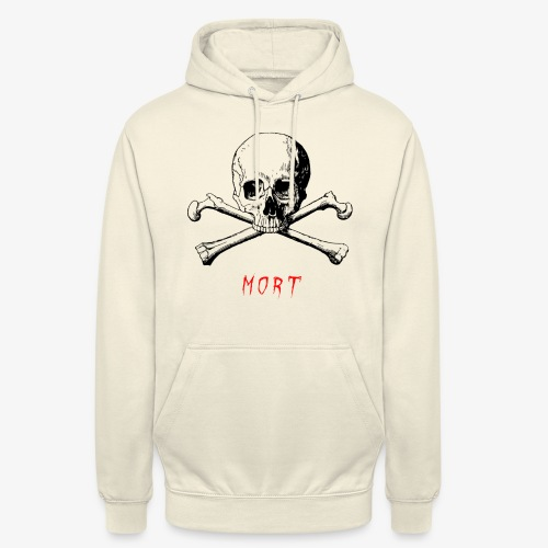MORT - Sweat-shirt à capuche unisexe