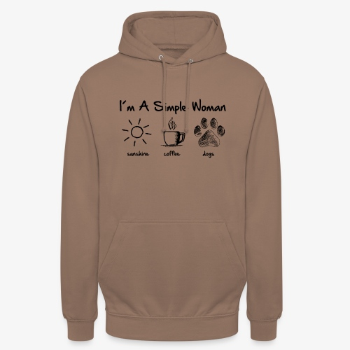 simple woman dog - Unisex Hoodie