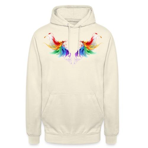 Ailes d'Archanges aux belles couleurs vives - Sweat-shirt à capuche unisexe