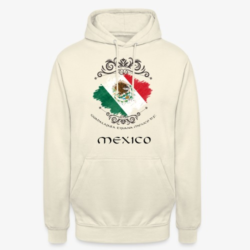 Mexico Vintage Bandera - Unisex Hoodie