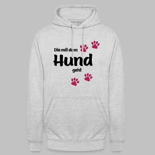 Die Mit Dem Hund Geht - Edition Colored Paw - Unisex Hoodie
