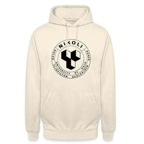 """Nikolin musta logo - Huppari """"unisex"""""""