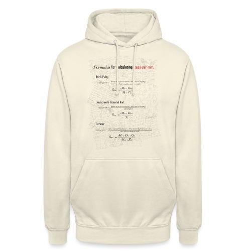 Formulas for calculating steps-per-mm. - Unisex Hoodie