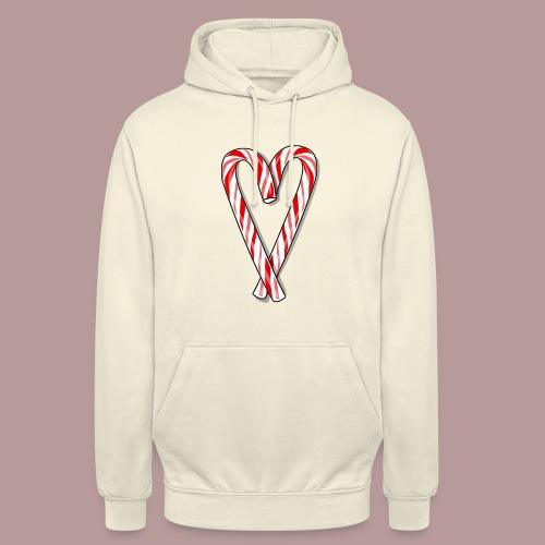 Sucre d'orge en forme de coeur - Sweat-shirt à capuche unisexe
