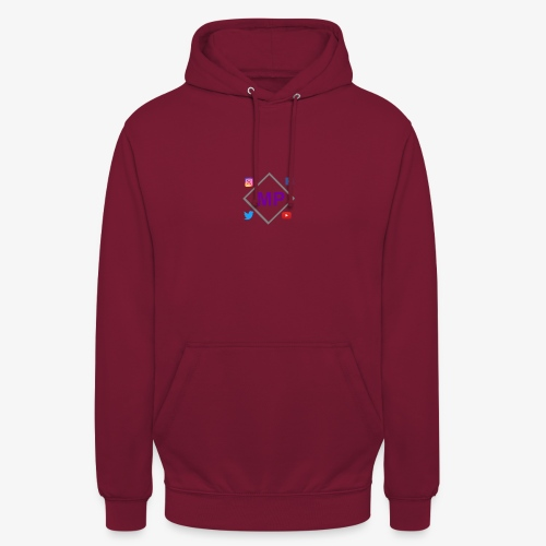 MP logo with social media icons - Unisex Hoodie