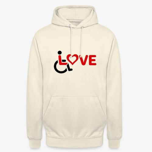 > Rolstoel liefde, rolstoelgebruiker, roller - Hoodie unisex