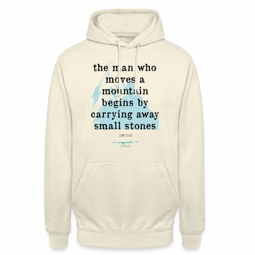 Confucius` Quote - The man who moves a mountain - Unisex Hoodie