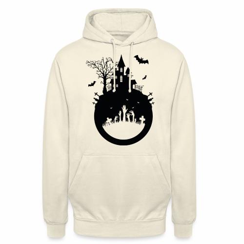 Haunted House - Halloween Design - Unisex Hoodie