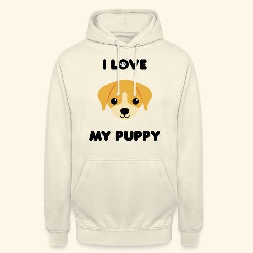 Love my puppy - Sweat-shirt à capuche unisexe