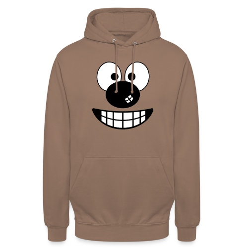 Funny cartoon face - Unisex Hoodie