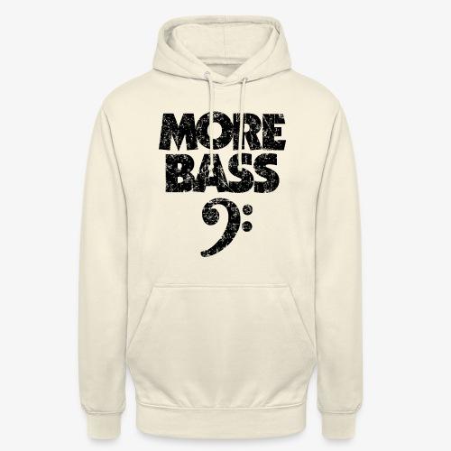 More Bass (Vintage/Schwarz) Bassisten - Unisex Hoodie