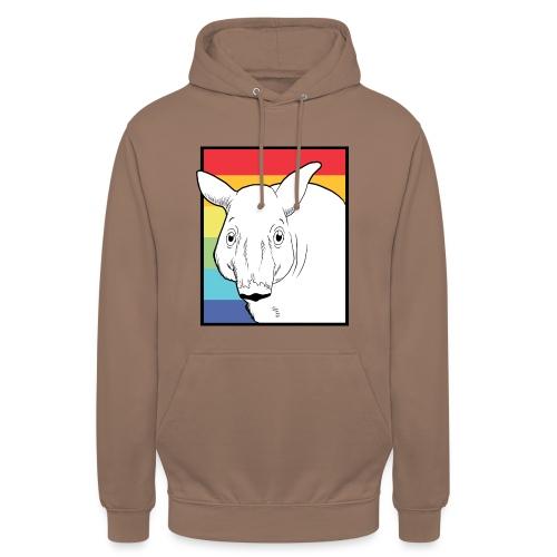 Tapir mit Regenbogen Farben - Unisex Hoodie