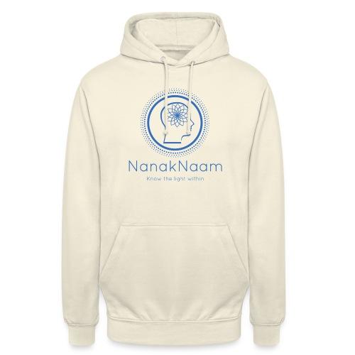 Nanak Naam Logo and Name - Blue - Unisex Hoodie