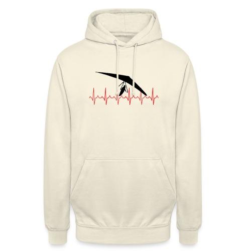 deltacardiogramme copie - Sweat-shirt à capuche unisexe