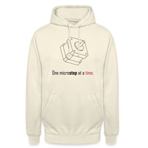 One microstep at a time. - Unisex Hoodie