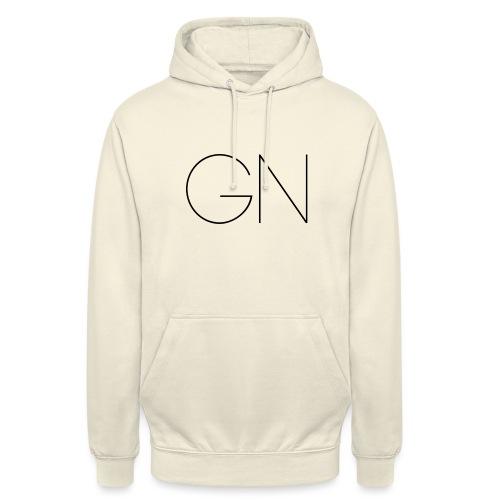 Långärmad tröja GN slim text - Luvtröja unisex