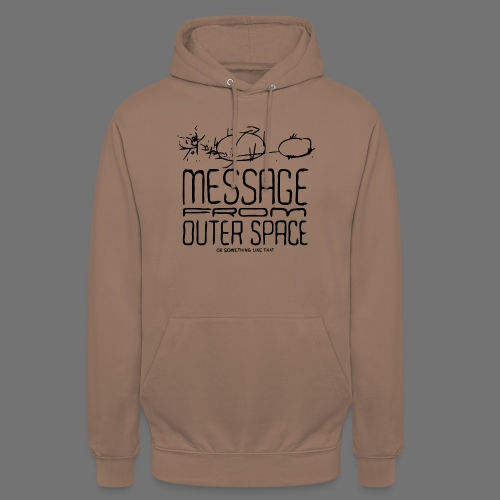 """Message From Outer Space (musta) - Huppari """"unisex"""""""
