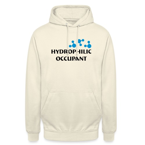 Hydrophilic Occupant (2 colour vector graphic) - Unisex Hoodie