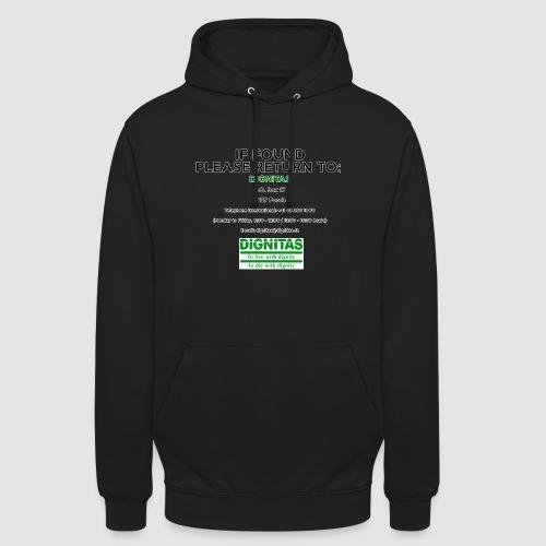 Dignitas - If found please return joke design - Unisex Hoodie