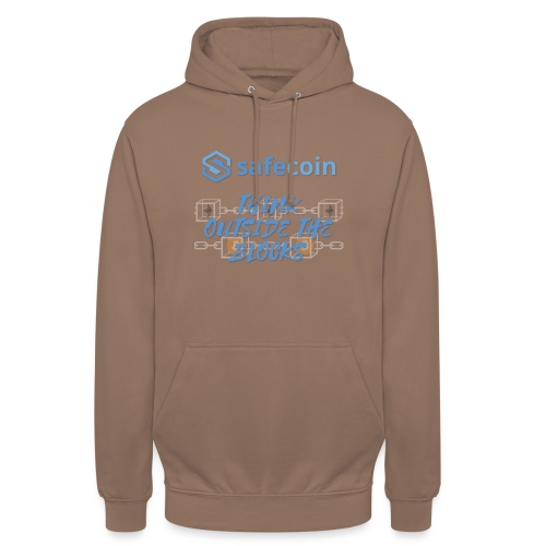 SafeCoin; think outside the blocks (blue) - Unisex Hoodie