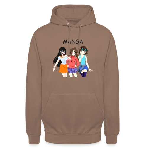 Anime Gruppe 3 Girls, Text Manga - Unisex Hoodie