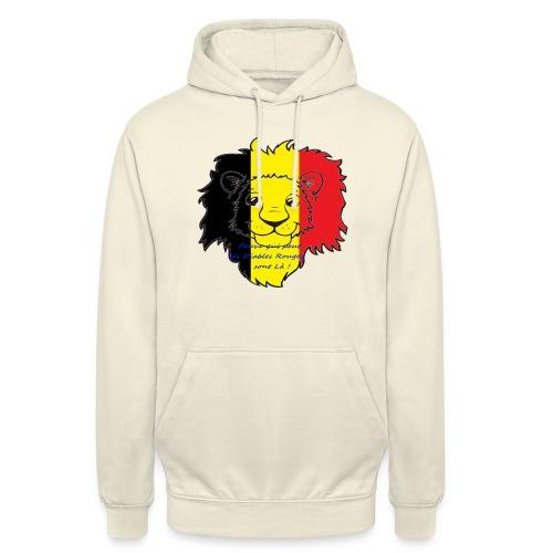 Lion supporter Belgique - Sweat-shirt à capuche unisexe