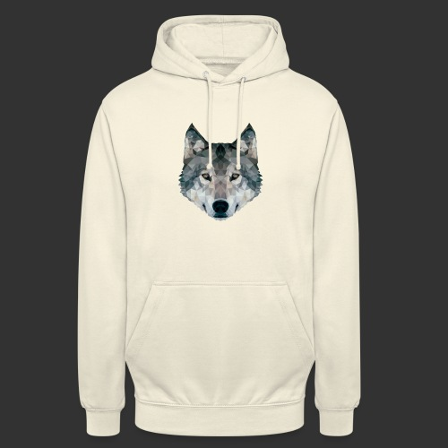 Loup LowPoly - Sweat-shirt à capuche unisexe
