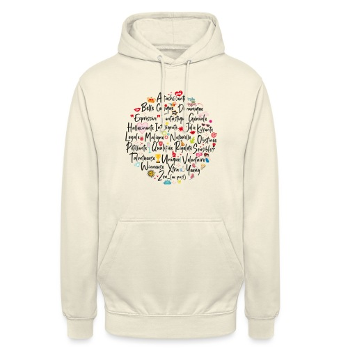 girly ABC book / abécédaire girly - Sweat-shirt à capuche unisexe